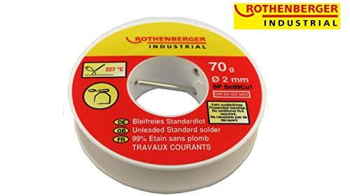 Rothenberger Industrial Bleifreies Standardlot 70G, Silber