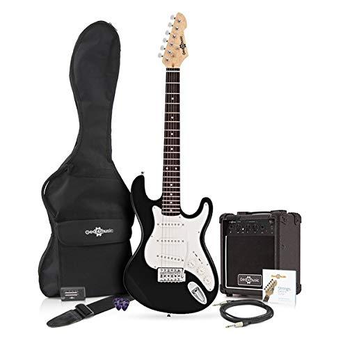Chitarra Elettrica LA 3/4 + Pacchetto con Amplificatore Black