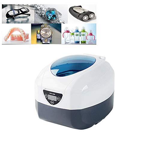 CXQZLH 750ML35W Zahnspange Prothesenreinigungsmaschine Sonic Haushaltswaschmaschine Hochfrequenzreiniger zum Reinigen von Brillen, Armbändern, Uhren, Flaschen, Schmuck, Rasierern, Zahnersatz