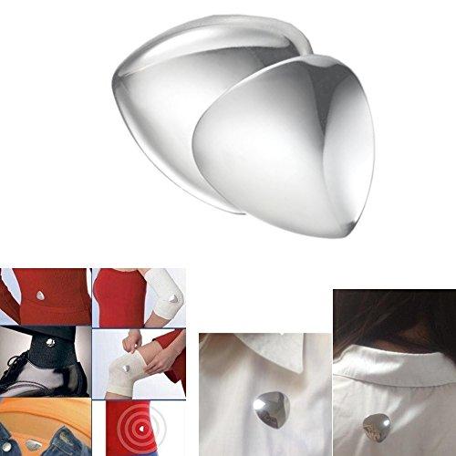 Cuore Terapeutico Magnetico Lucidato TCM Energetix 4you 1114 / 177 con doppia faccia in acciaio inossidabile, registrabili e antiallergico + sacchetto di gioielli