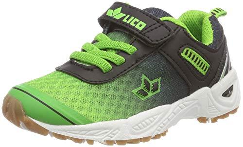 Lico Unisex-Kinder Barney VS Multisport Indoor Schuhe, Blau Gruen/Schwarz, 30 EU