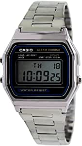 Casio Montre Homme Digitale avec Bracelet en Acier Inoxydable – A158WEA-1EF