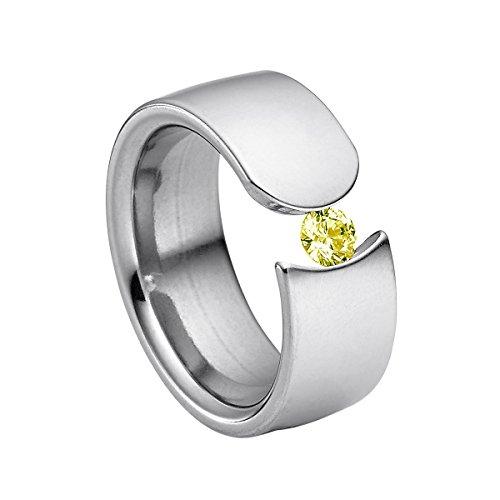 Heideman Damen-Ring figura poliert Gr.60 Swarovski zirkonia peridot 4 mm Ringe mit Stein Zirkonia Diamant Edelstahl Größe 60 (19.1) - 9 Diamant-ring-größe