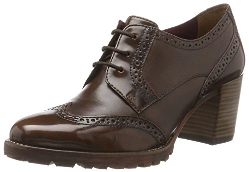Tamaris Damen 23302 Oxfords, Braun (Maroon), 41 EU