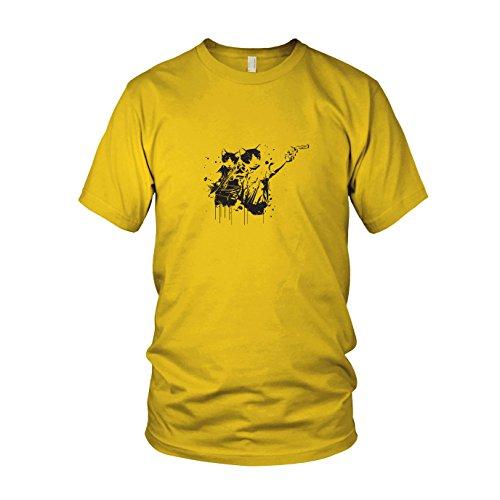 Walking Cats - Herren T-Shirt, Größe: XXL, Farbe: gelb (Season Pc Walking Dead 2 Für)