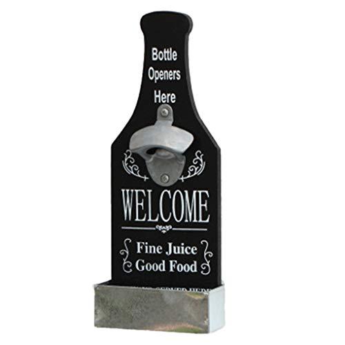 fish Einzigartige Metallflaschen-Form-Wand-Haken Hängen Monte Bar Bier-Wein-Glas-Cap Flaschenöffner Küchenwerkzeug
