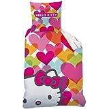 Cti 041833 Ropa de Cama Hello Kitty Mimi Love, Linón de Algodón, 135 x 200 Y 80 x 80 cm