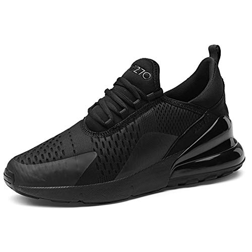 Ufatansy Men's Sports Shoes Air Running Shoes Casual Walking Trainers Lightweight Mesh Sneakers Jogging Fitness Shoes, M black, 7.5 UK