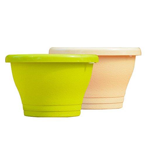 MyLifeUNIT Lampadaire Pots de fleurs à suspendre, tuyau en plastique Pots de fleurs pour jardin terrasse balcon (lot de 2)