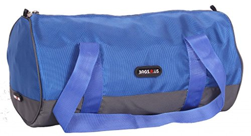 BagsRUs Sporty Royal Blue Duffel Gym Tote Travel Bag (DF102FRB)  available at amazon for Rs.439