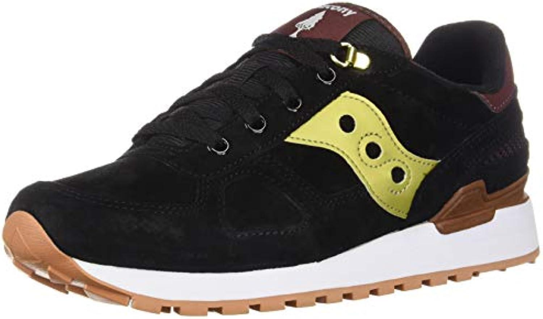Saucony scarpe da ginnastica Shadow in in in Suede Nero e Pelle Giallo oro   Premio pazzesco, Birmingham  ee72b8