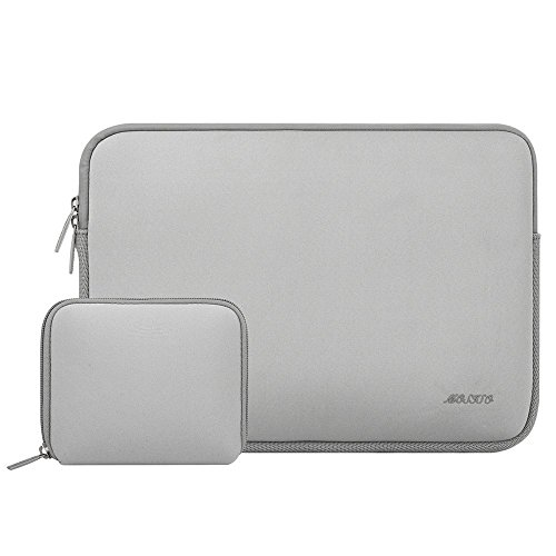 MOSISO Wasserresistente Lycra Hülle Sleeve Tasche für 11-11,6 Zoll MacBook Air, Ultrabook Netbook Tablette Laptophülle Schutzhülle Laptoptasche Notebooktasche mit Kleinen Fall, Grau (Netbook Sleeve)