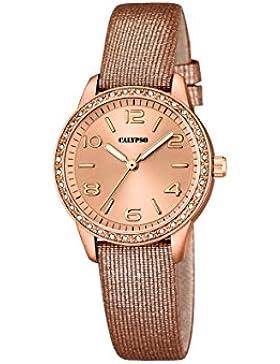 Calypso Damen-Armbanduhr Analog Quarz Leder K5652/3