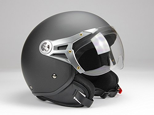 BNO ethelm Jet100 Motorradhelm Roller Helm Schutzhelm Matt Schwarz (XS - XXL) (S)
