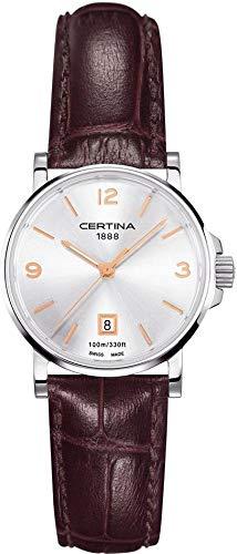 Certina Montre bracelet Femme XS à quartz analogique cuir c017.210.16.037.01
