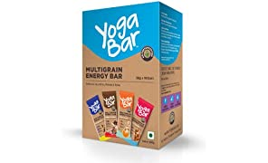 Yogabars Multigrain Energy Bars, Pack of 10 (Chocolate, Vanilla Almonds, Cashew Orange and Nuts & Seeds)