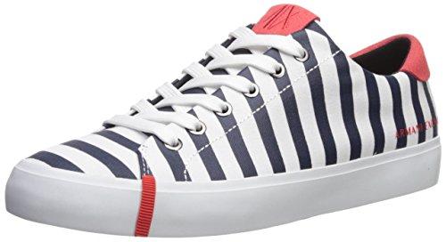 Armani Exchange Damen Turnschuhe Freizeitschuhe Sneaker Art. 945009 8P451 40 EU - 8 USA - 6,5 UK Bianco BLU White Blue
