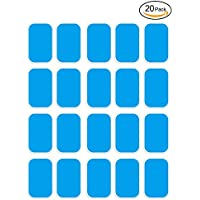 Openuye EMS Abs Replacement Pads, Abs Trainer Replacement Gel Sheet Abdominal Toning Belt Muscle Toner Ab Trainer Accessories 20pcs Gel Sheets For Gel Pad