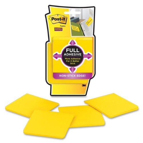 post-it-super-sticky-76mm-x-76mm-full-adhesive-notes-pad-electric-yellow-pack-of-4-25-notes-per-pad