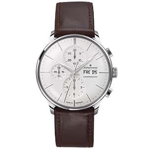 Junghans Herren-Armbanduhr XL Meister Chronoscope Chronograph Automatik Leder 027/4120.00