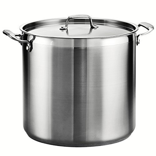 Tramontina 80120/003DS Tramontina Gourmet Stainless Steel Covered Stock Pot, 24-Quart by Tramontina 24 Quart Pot