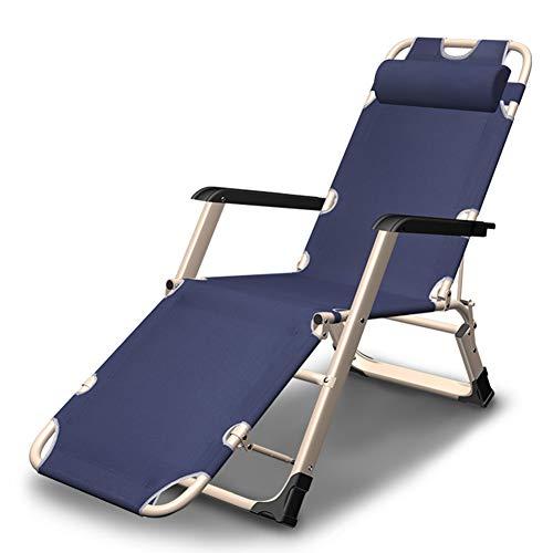 Tumbonas Silla Plegable sillas de Ocio Silla de Gravedad Cero, Ajustable/Almohada con...