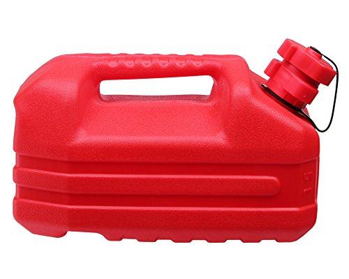 Ondis24 Benzinkanister Reservetank Kanister für Kraft- & Schmierstoffe integrierter Ausgießer & Tropfschutz UN-Zulassung 5 Liter