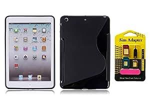 Apple iPad mini 3, Wellmart Back Case Cover Combo Offer For Apple iPad mini 3 + Metal Sim Card Adapter (Super Saver)