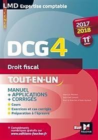 DCG 4 - Droit fiscal - Manuel et applications - 2017-2018 - 11e édition par Jean-Yves Jomard