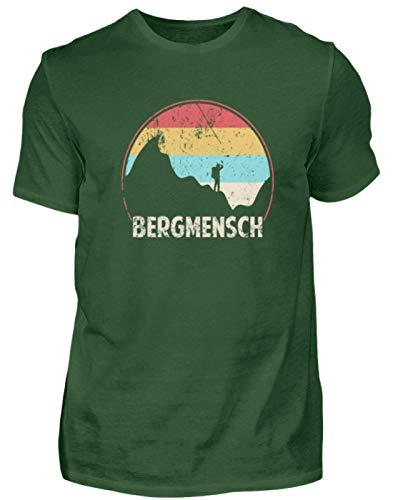 Shirtee BERGMENSCH Grunge - Herren Premiumshirt -XL-Dark Green -