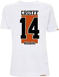 Münk - Johan Cruyff Holland - Camisetas de diseño Retro fútbol Vintage - Muñeco Recortable Gratis