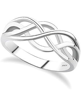 GULICX® Ewig Knoten Filigran Band Ring 925 Sterling Silber ohne Stein