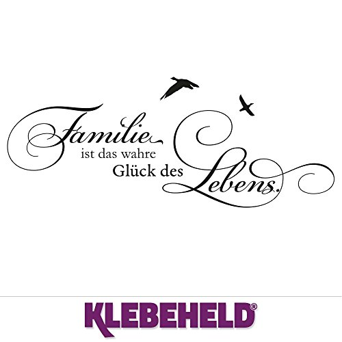 Klebeheld Wandtattoo Familie ist Das wahre Glück des Lebens (Farbe/Größe)