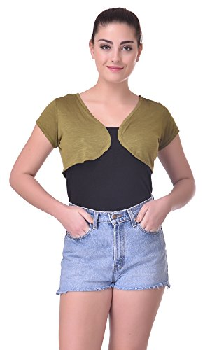 Trend18 Viscose Miltary shrug - Military Medium  available at amazon for Rs.199
