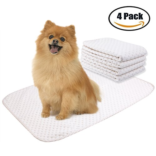 Yangbaga 4 Pack Washable Reusable Dog Training Pad – Superior Absorbent,Waterproof,Odor Control – for Puppy Potty Training, Incontinence, Travel, Daily Night Use – Medium Size 20×28