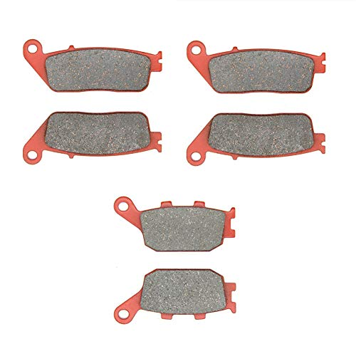 MEXITAL Pastiglie freno Ceramica organico Anteriori + Posteriore per CBR 600 F (95-98) / 599 (04-06) / CB 600 F Hornet (98-06) / CBF 600 (04-09) / CBF 1000 (2 Piston Front Caliper/Non ABS) (06-15)