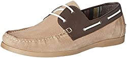 United Colors of Benetton Mens Beige (902) Leather Boat Shoes - 6.5 UK