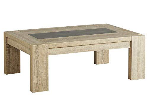 DLM Design Table Basse rectangulaire en Bois et mélamine Oak