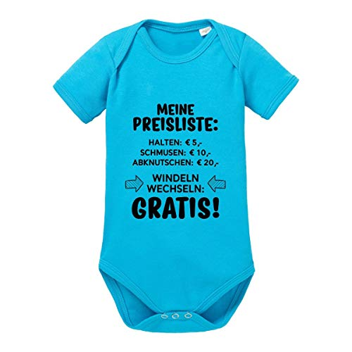 Herzbotschaft Babybody Modell: Meine Preisliste (3-6 Monate, Aqua)