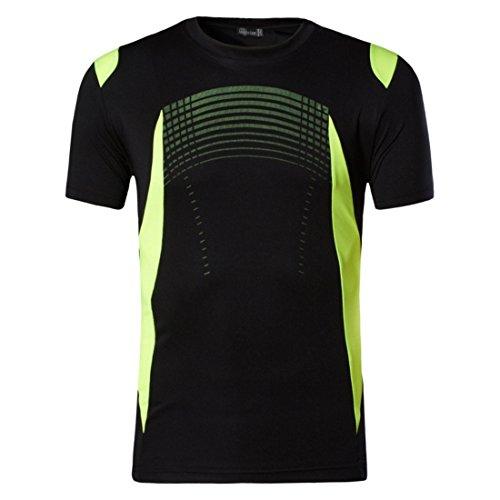 Men's Summer Designer Quick Dry Slim Fit Tee Shirt Black
