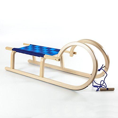 Hörnerrodel HolzFee Colint Baran 100 G Gurtsitz blau Hörnerschlitten Schlitten