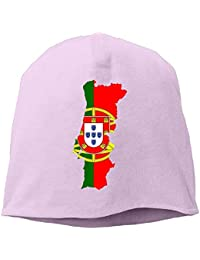 Gorgeous practical goods Flag Map of Portugal Warm Stretchy Daily Beanie  Hat Skull Cap Outdoor Winter 7259901600f