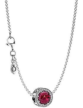 Pandora Halskette mit Anhänger Strahlenkranz der Herzen Rot 08031