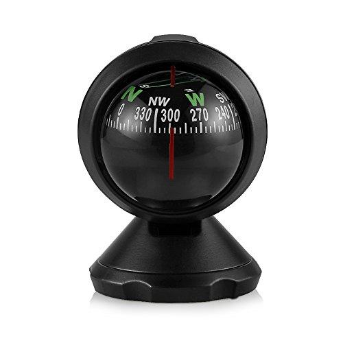 nststoff Navigation Kompass Ball, Mini Flexible Navigation Armaturenbrett, KFZ Innenraum Ornaments Outdoor Sprachanweisungen Werkzeug (Klar, Platten Bulk)