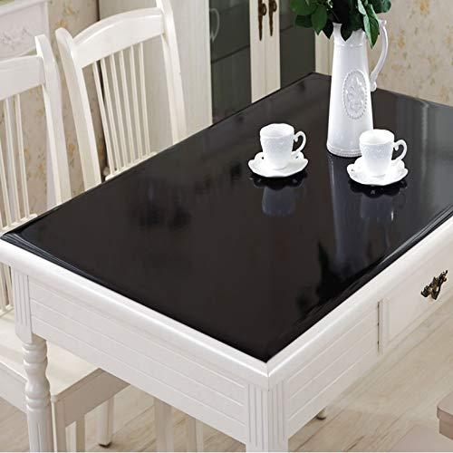 Tovaglia protettiva per tavolo tovaglietta nera tovaglia nera pvc tovagliette in vetro soffice impermeabile anti-caldo tavolino copritavola in cristallo tavolo in legno coperchio di protezione