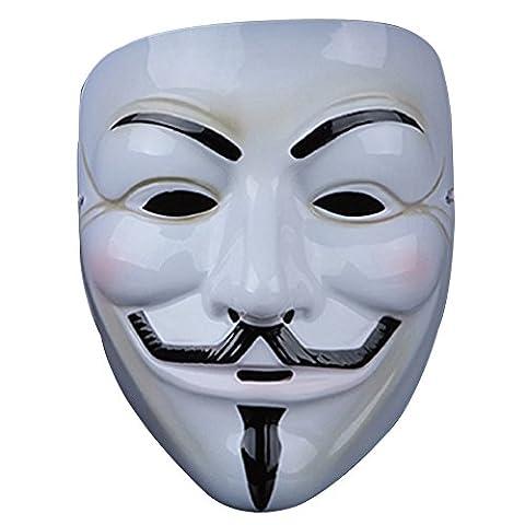 Noir Costumes Cap - Masque Anonymous,Guizen Masque de Guy Fawkes (V
