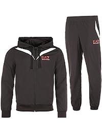 Emporio Armani EA7 combinaison pantalon et sweat-shirt homme fashion noir