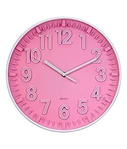 Basement Bazaar Plastic Refreshing Wall Clock (35.5cm x 35.5cm, Pink)
