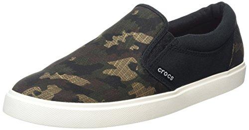 Crocs Citlngrphslpsnk, Scarpe da Ginnastica Uomo Nero (Camo/black)