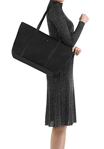 5974a90d8c94a CHICECO Nylon Groß Reise Shopper Tasche Handtasche Damen Schwarz 1 Schwarz